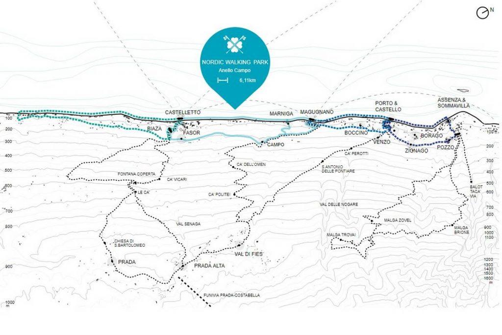 cartina nordic walking Brenzone sul Garda - Clicca per ingrandire
